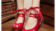 Đẹp lung linh với 8 mẫu giày thêu hoa cổ trang Hot Trend