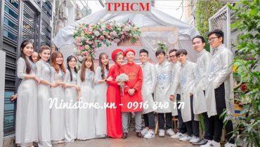 Địa chỉ cho thuê áo dài bưng quả ở TPHCM