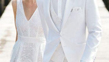 10 Mẫu áo vest chú rể màu Trắng đẹp, trẻ trung, sang trọng nhất 2020