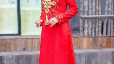 Top 10 mẫu áo dài cưới đỏ gấm đẹp quý phái nhất 2021